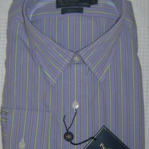 Ralph Lauren Mens Cotton Andrew Striped Purple NWT